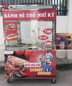 Quang Huy gia công xe đẩy bánh mì Thổ Nhĩ Kỳ 1m5 bền đẹp