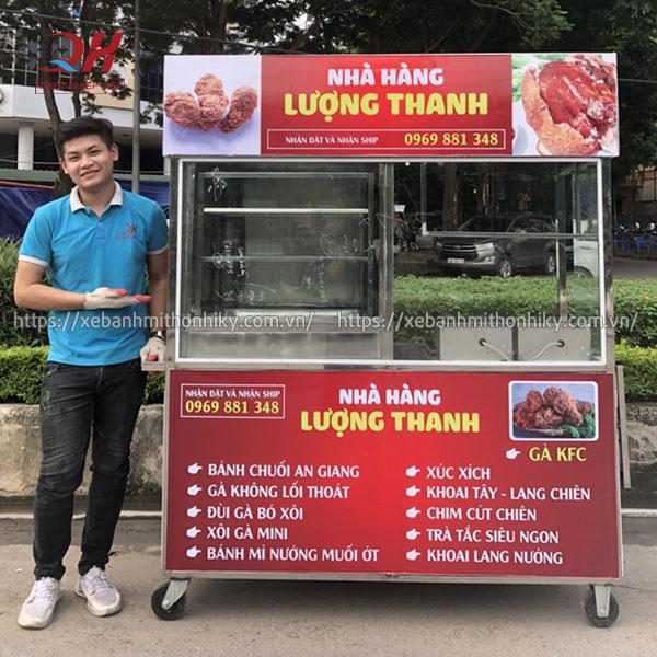 Quang Huy sản xuất tủ xe đẩy bán đồ chiên