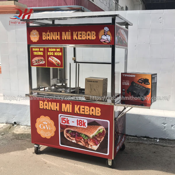 Quang Huy nhận đặt thiết kế tủ bán bánh mì theo yêu cầu