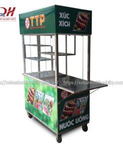 Thiết kế tủ bán xúc xích với 3 giá để đồ tiện lợi
