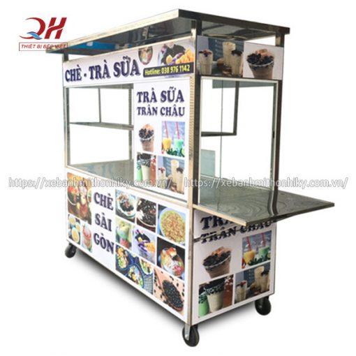 Thiết kế tủ xe đẩy bán trà sữa theo yêu cầu giá tại xưởng