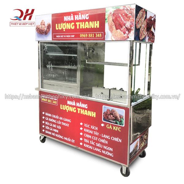 Tủ xe đẩy bán đồ chiên giá rẻ tại xưởng Quang Huy