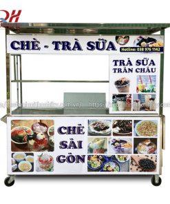 Tủ bán trà sữa trân châu Quang Huy