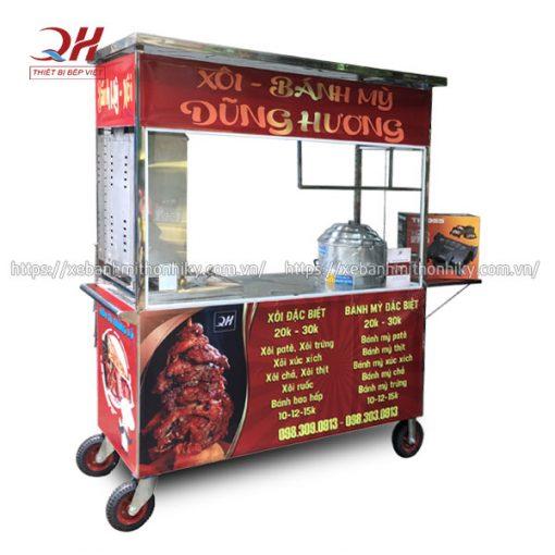 Tủ xe đẩy bán xôi Quang Huy