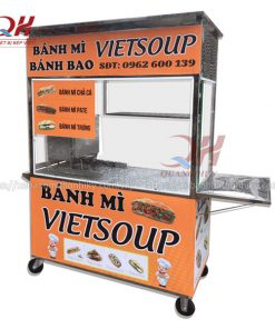Tủ xe đẩy bán bánh mì VietSoup Inox 304 giá rẻ