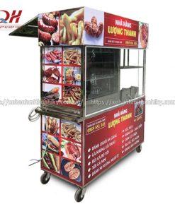 Tủ xe đẩy hàng rong bán đồ chiên Quang Huy