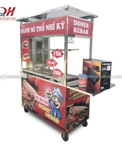 Xe bán bánh mì Thổ Nhĩ Kỳ 1m5 Quang Huy sản xuất tại xưởng
