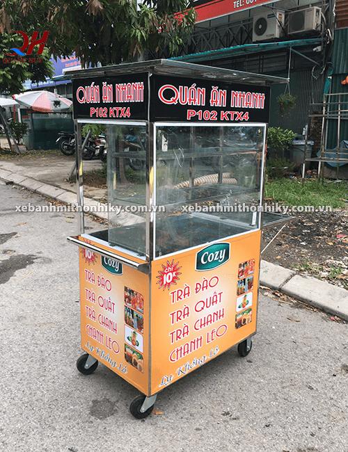 Xe bán trà đào Quang Huy bảo hành dài hạn