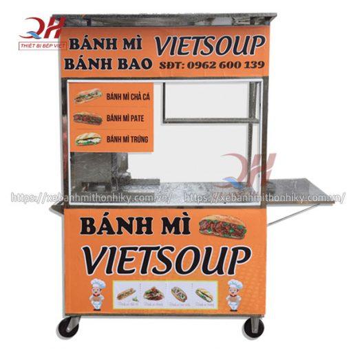 Xe đẩy bán bánh mì VietSoup Quang Huy