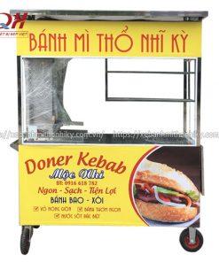 Xe đẩy bán bánh mì Thổ Nhĩ Kỳ Mộc Nhi do Quang Huy sản xuất theo yêu cầu