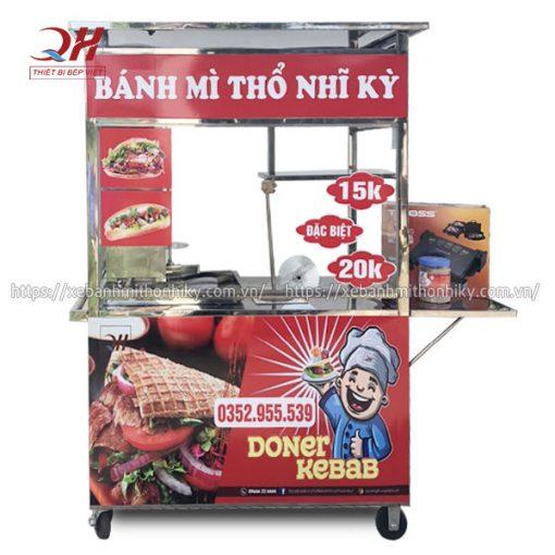 Mẫu xe đẩy bánh mì Thổ Nhĩ Kỳ 1m5 Quang Huy