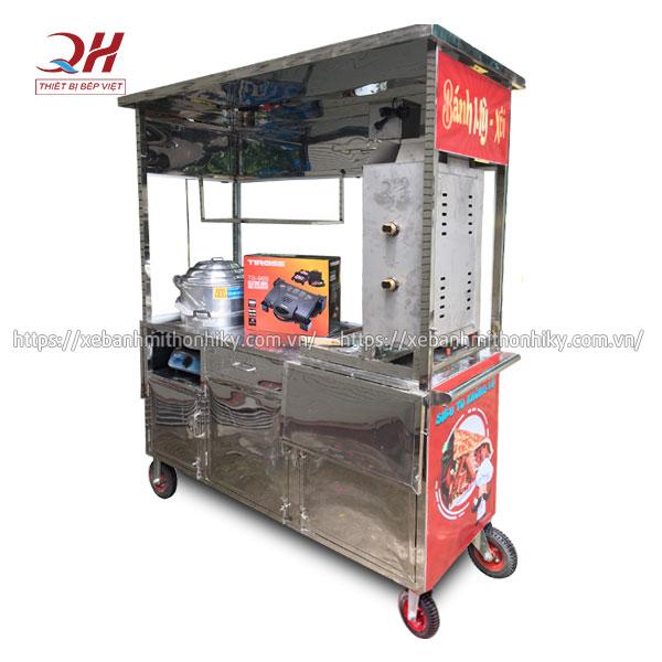 Xe đẩy xôi bánh mì 1m6 Quang Huy