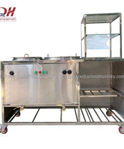 Khung tủ bán phở Inox 304 cao cấp, thiết kế khoa học