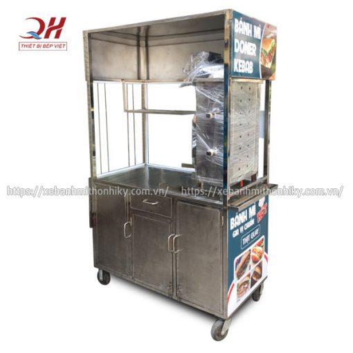 Khung tủ xe đẩy bánh mì Inox 304 bền đẹp, sáng bóng, không hoen gỉ