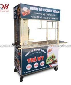 Xe bán bánh mì Doner Kebab Trà My thiết kế theo yêu cầu