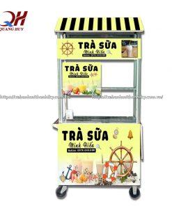 Xe trà sữa mini nhỏ gọn phù hợp với nhiều mặt bằng kinh doanh