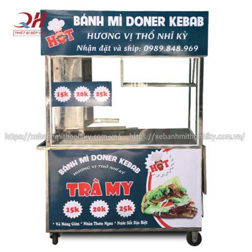 Xe đẩy bánh mì Doner Kebab Trà My Quang Huy sản xuất