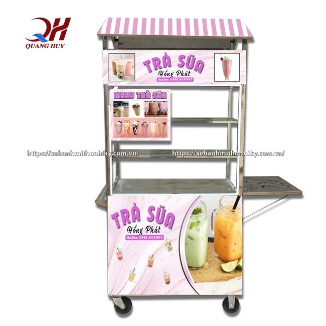 Mẫu xe đẩy trà sữa Hồng Phát