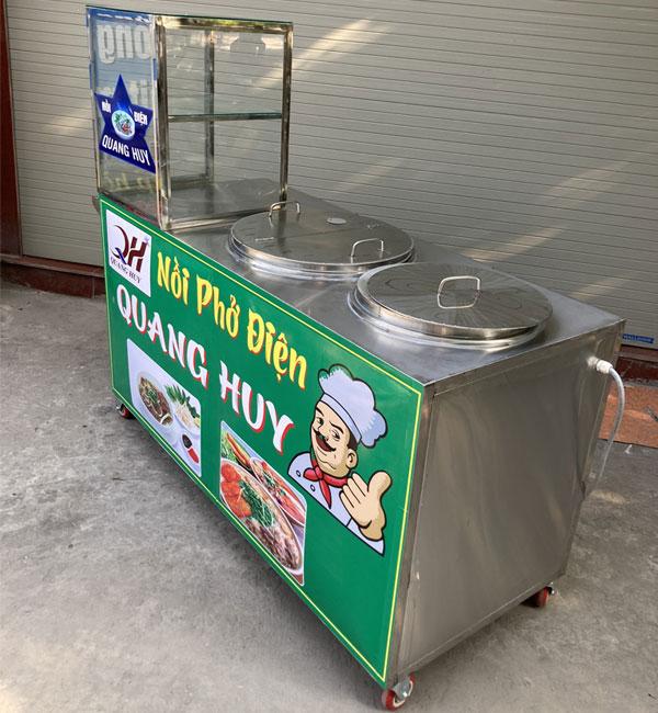 Quang Huy sản xuất tủ xe phở theo yêu cầu tại xưởng