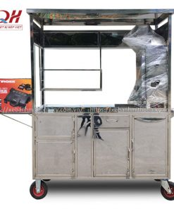 Khung xe đẩy bánh mì Inox 304 cao cấp