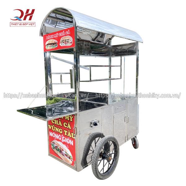 Mẫu xe đẩy bánh mì chả cá Vũng Tàu Quang Huy