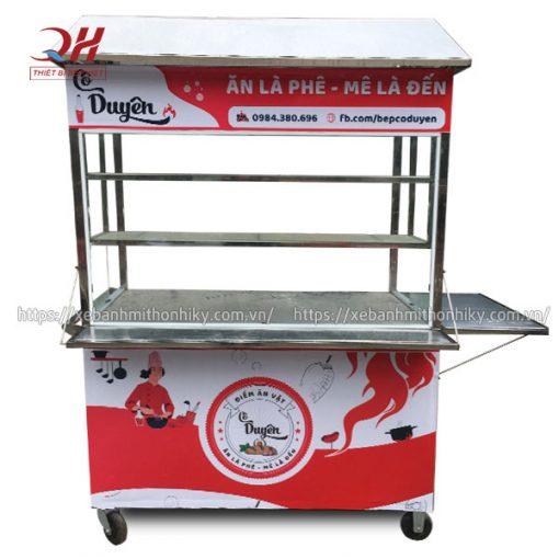 Tủ xe đẩy bán đồ ăn vặt Quang Huy