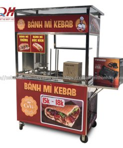 Tủ xe đẩy bánh mì Kebab Covi theo yêu cầu