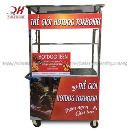 Xe bán bánh hot dog, bánh mì kẹp xúc xích nóng Quang Huy