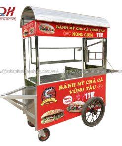 Xe đẩy bán bánh mì chả cá Vũng Tàu Quang Huy