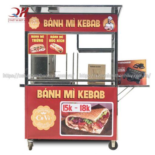 Xe đẩy bán bánh mì Kebab Covi Quang Huy