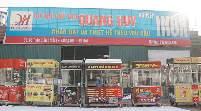 Xưởng xe đẩy bán hàng Quang Huy - Thương hiệu uy tín hàng đầu thị trường