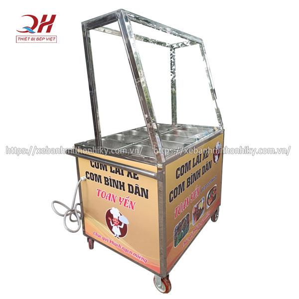Tủ kiếng bán cơm giữ nóng đồ ăn Quang Huy