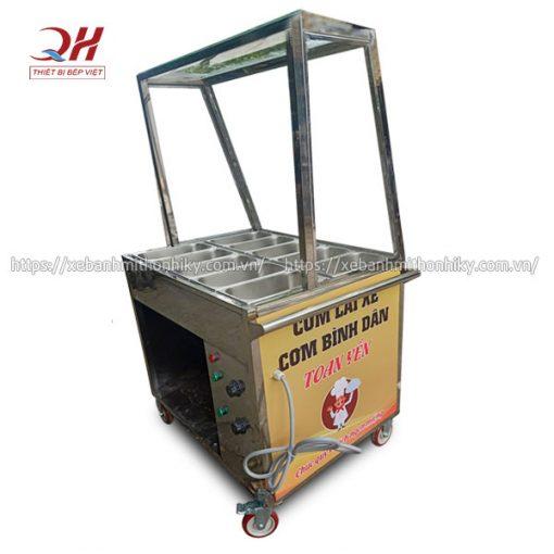 Tủ bán cơm hâm nóng gia công từ Inox 304 bền đẹp, không gỉ