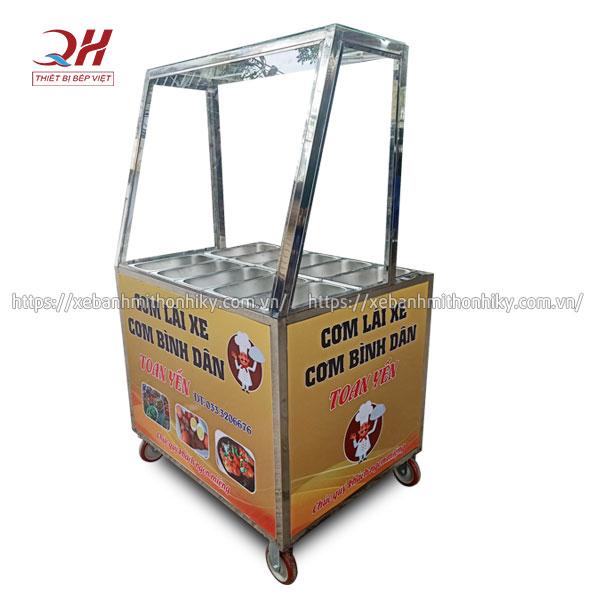 Tủ bán cơm bình dân hâm nóng Quang Huy