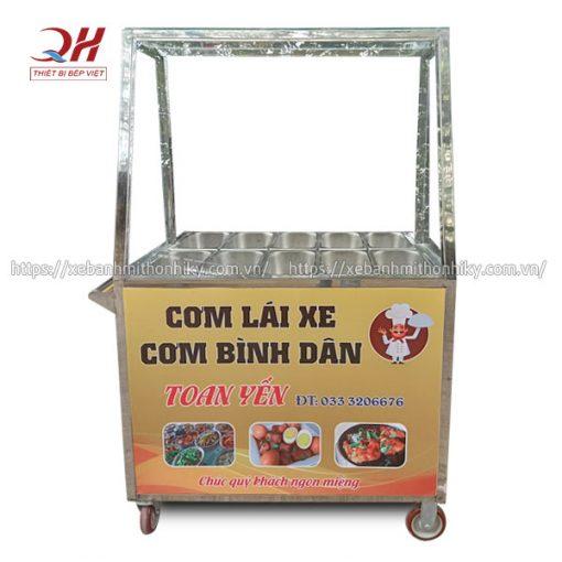 Tủ kính bán cơm Quang Huy gia công và phân phối