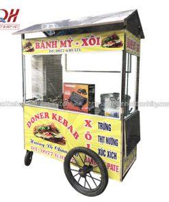 Mẫu xe bánh mì Kebab, xôi trứng, xúc xích Quang Huy