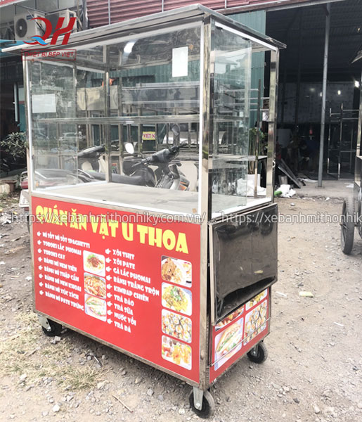 Quang Huy gia công và phân phối xe bán hàng ăn vặt trực tiếp tại xưởng