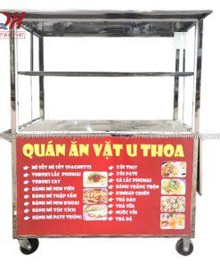 Xe đẩy bán hàng ăn vặt U Thoa