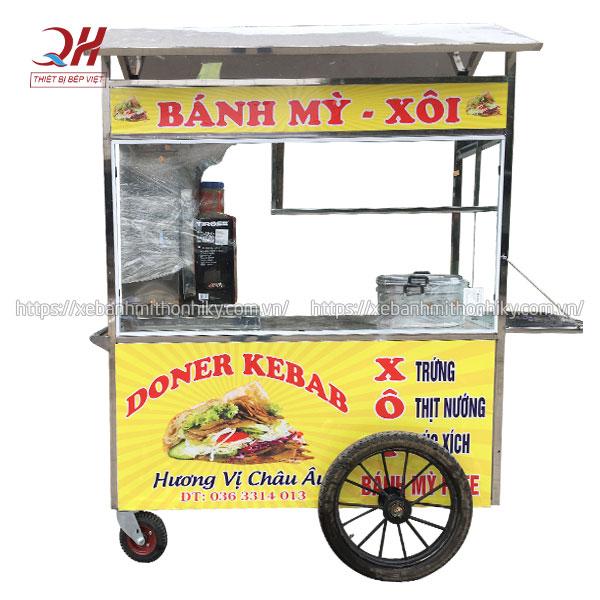 Xe đẩy bán bánh mì xôi trứng Quang Huy